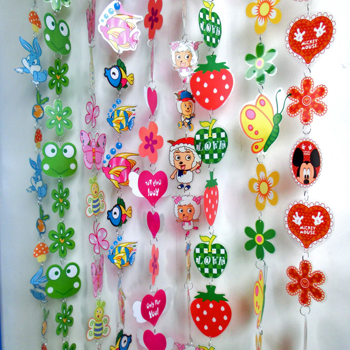 Kindergarten Decoration Supplies Classroom Wall Ornaments Room New Cartoon Curtain Hanging