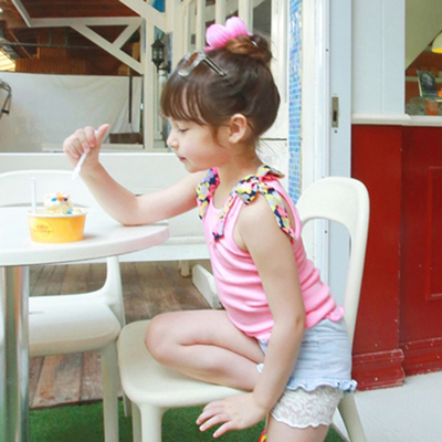 Special Korean children's summer models new candy-colored girls cool vest cotton Halter shirt shirt 3 colors
