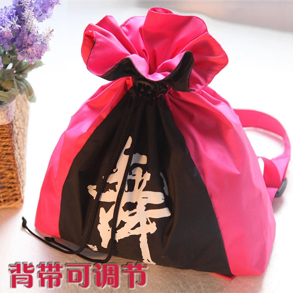 Младенец ребенок танец пакет девочки многослойный ребенок шнурок практика гонг рюкзак дети шнурок двойной пояс портфель рюкзак