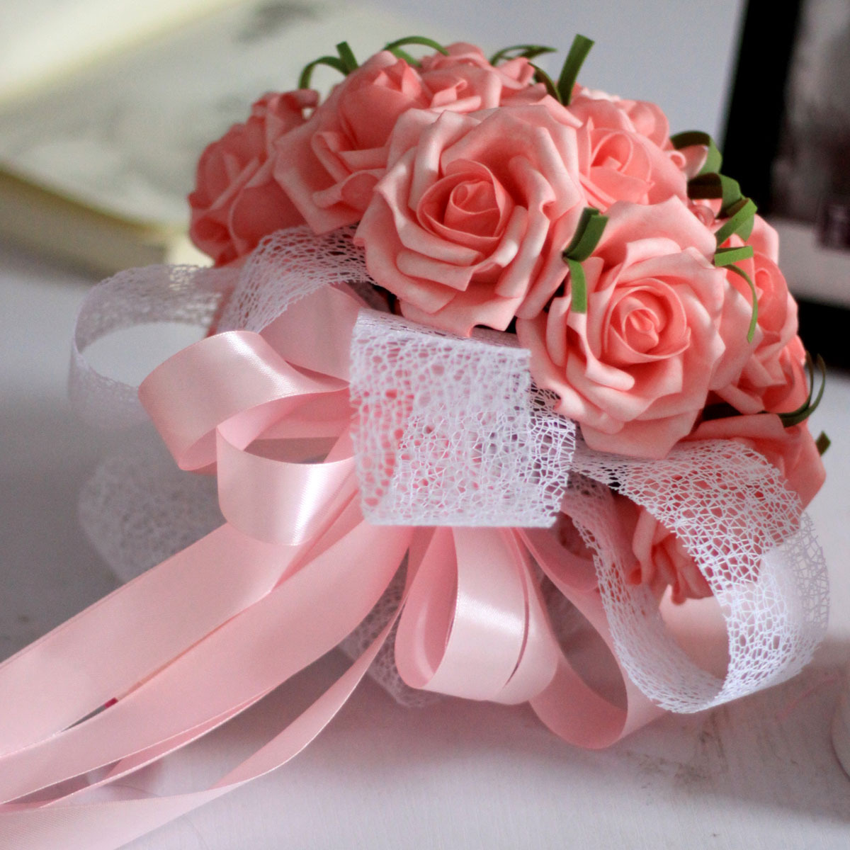 USD 12.99] Hand holding flowers fake flowers silk flowers decorative ...