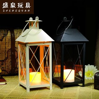 Sheng Quan retro romantic European-style home decorative wrought iron candlestick wedding candlestick candle