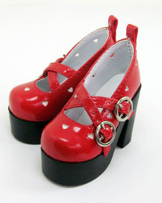 taobao agent Green orange 3/4 points BJD, SD baby leather shoes princess high-heeled shoes in stock black white pink sh303