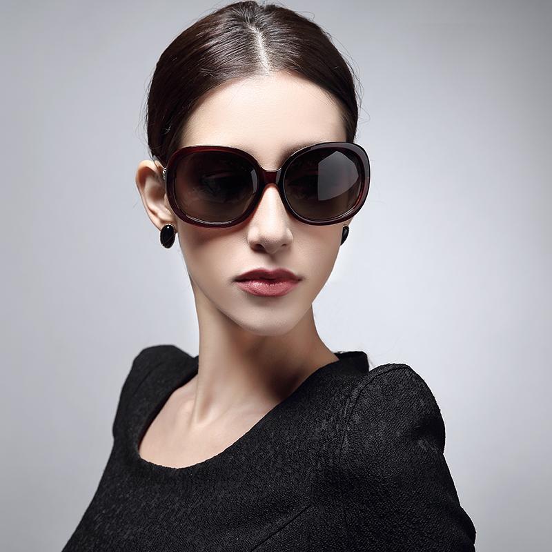 女士偏光太阳镜时尚明星潮墨镜复古大框眼镜近视
