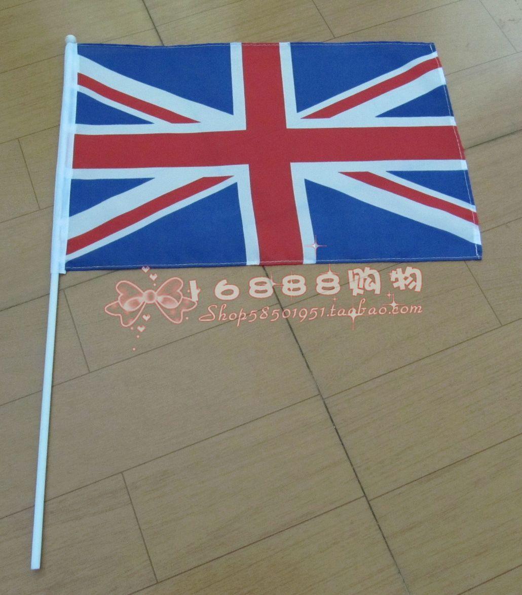 Флаг Великобритания рукой машут флажками британским флагом флаг Размер 30*45см