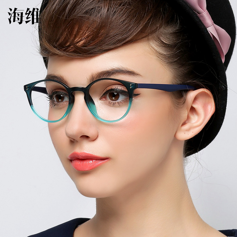 Hai tr90 Glasses Frame myopia women small face eye frame tide retro round  full frame myopia a726159a4