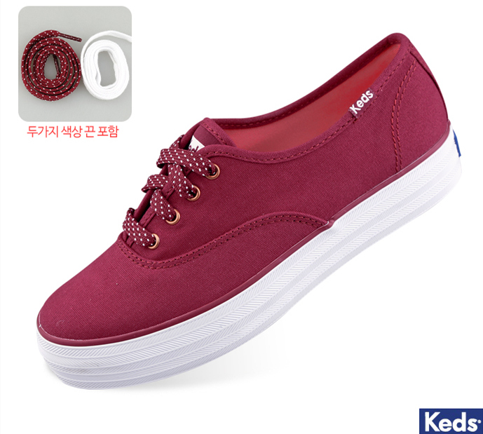 5f302d9ca32 Genuine Keds thick canvas shoes women s wine red wf53536 Zheng xiujing with  the same paragraph South Korea purchasing wild