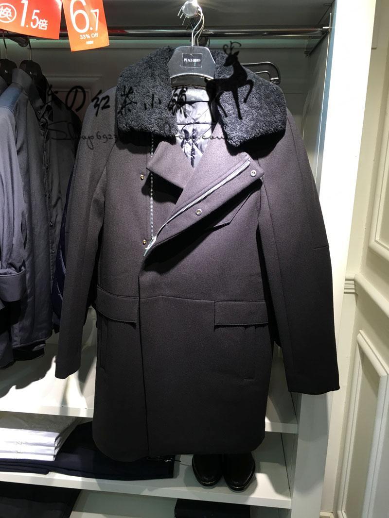 现货代购太平鸟男装专柜正品15年冬款呢料大衣B2AA54404 原价2680