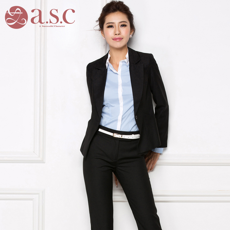 9a80770c352f 2019 new autumn and winter models fitting ladies shirt long-sleeved professional  suit suits civil servants interview clothing women