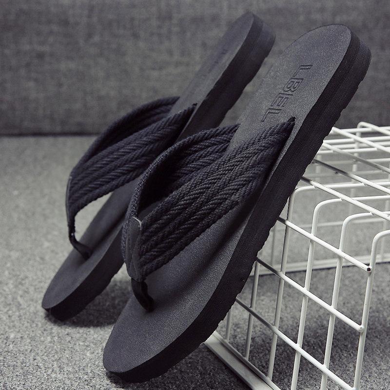 Dép nam mùa hè không trượt giày bãi biển thời trang mặc cá tính dép dép ngoài trời thủy triều đáy mềm pin flip flops