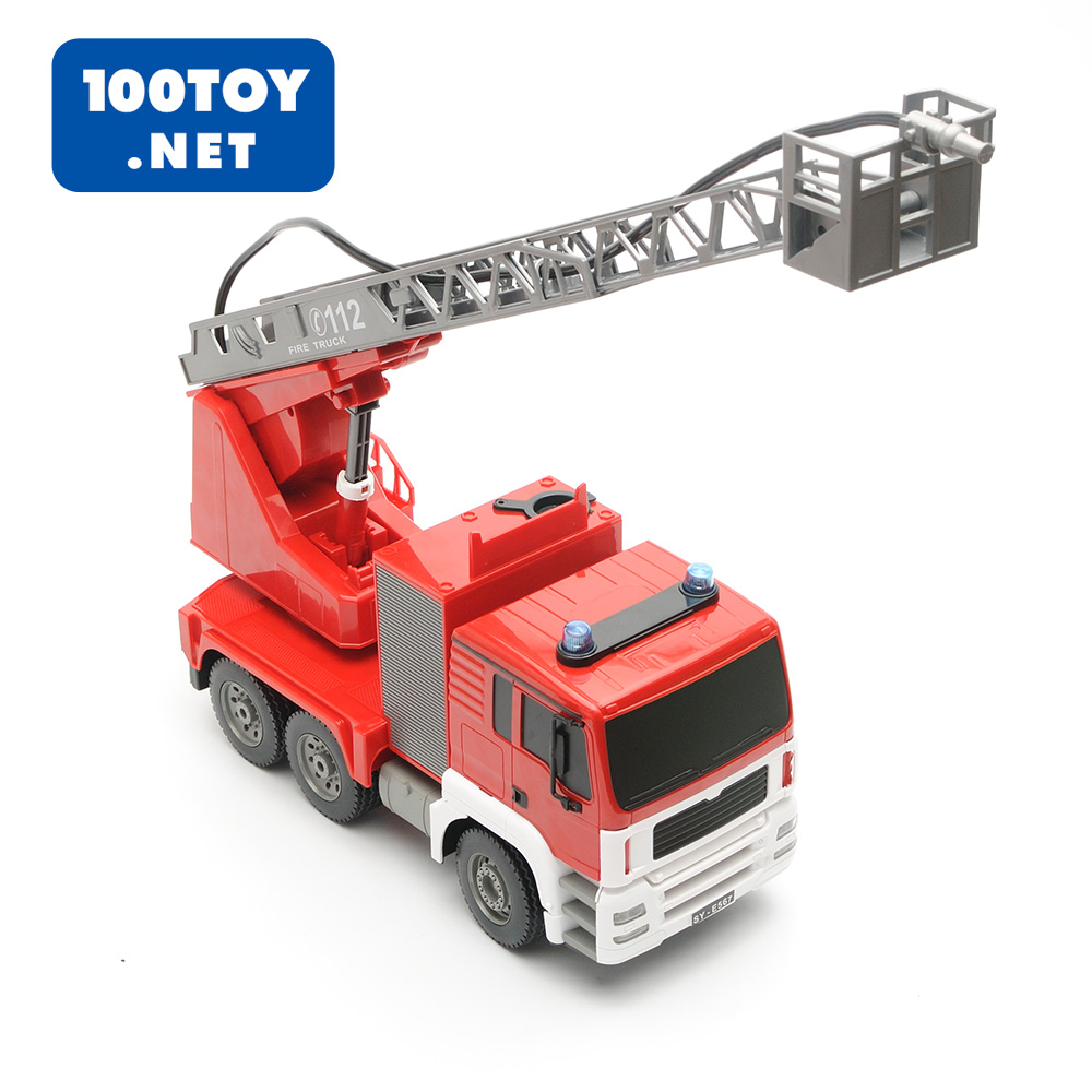 Usd 10129 Large Remote Control Ladder Fire Truck Fighting Car Toy Can Shoot Water Childrens 61