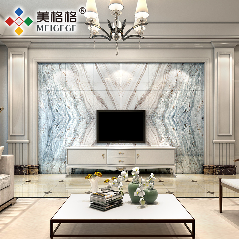 Beautiful Princess Tile Mosaic Modern Minimalist Living Room TV Background Wall Stone Style Marble Ocean Star
