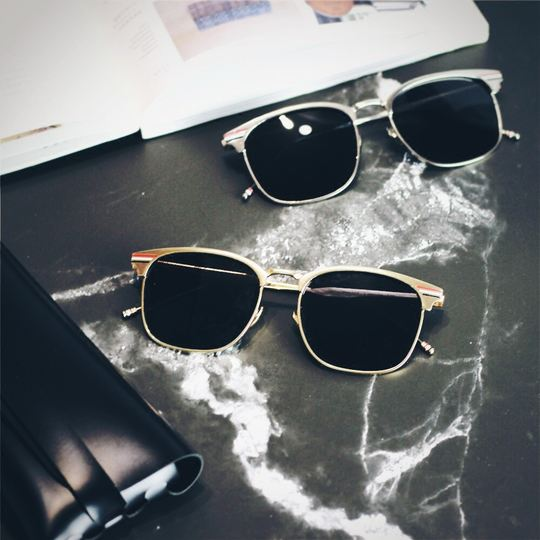 2018 retro new wave couple sunglasses men and women sunglasses half frame metal driver driving myopia polarizer