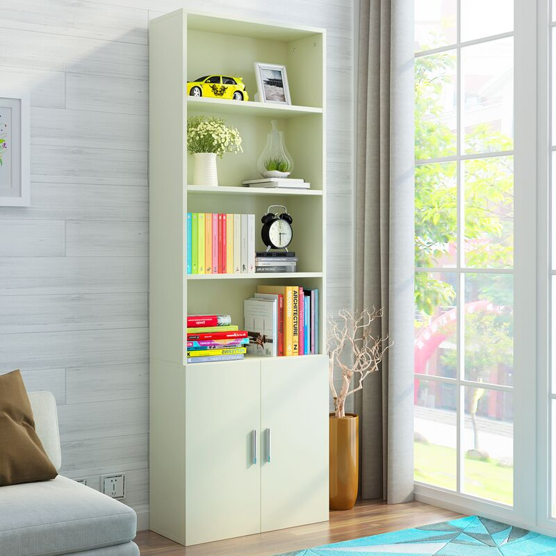 Bookcase Bookshelf Simple Modern Combination Living Room Office With Door IKEA Childrens Storage Cabinet Student
