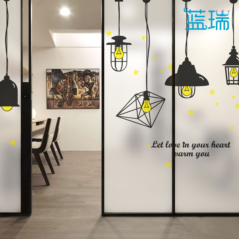 Lan rui frosted film christmas window stickers office glass doors and windows household decorative art pendant
