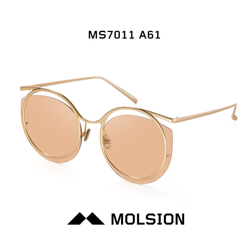 陌森偏光太陽鏡巴黎時裝周設計師合作款太陽眼鏡墨鏡時尚MS7011