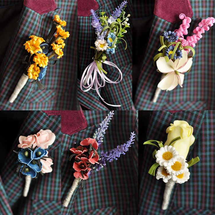 USD 4.94] New Western style corsage European style groom corsages ...