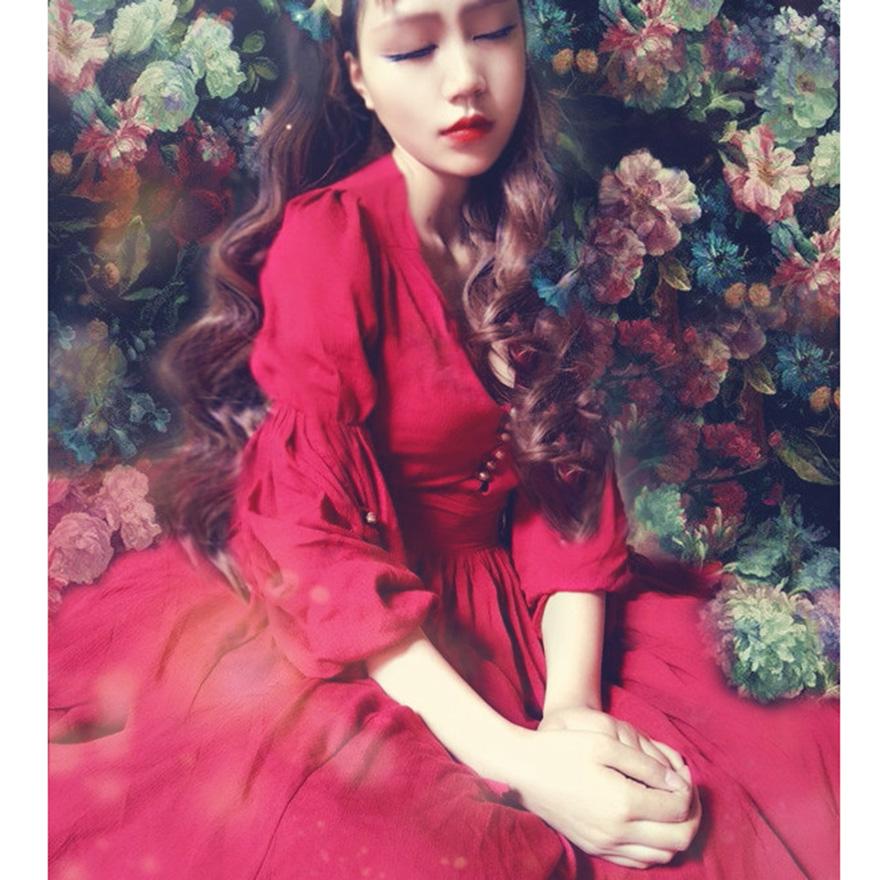 秋季连衣裙2015新款韩版立领镂空蕾丝拼接长袖蓬蓬裙收腰大摆短裙