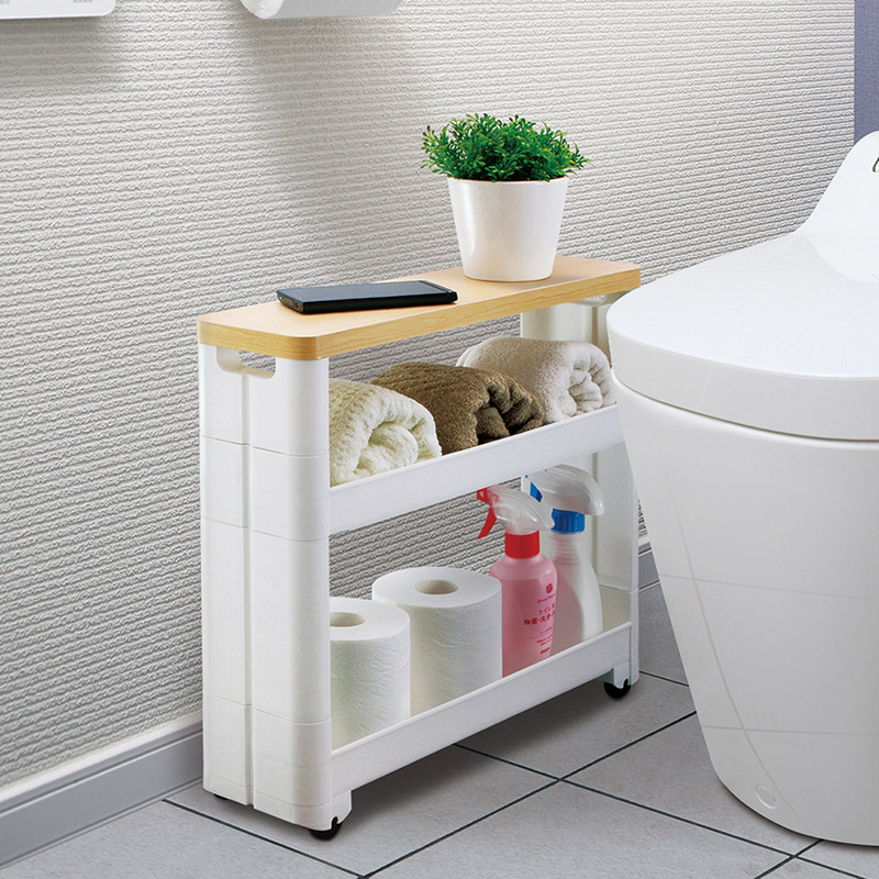USD 79.02] Japan imported bathroom crevice shelf toilet storage rack ...