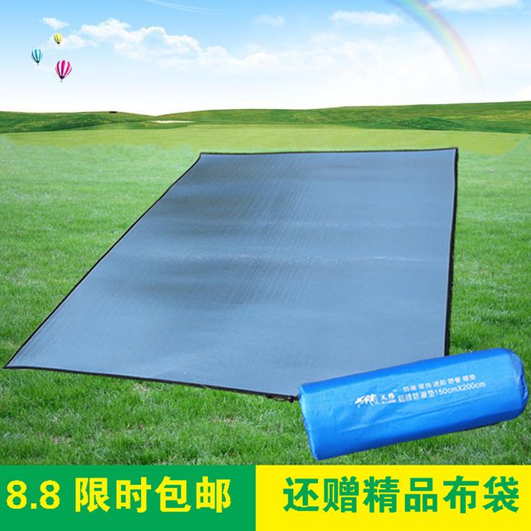 Tấm nhôm ngoài trời mat cắm trại dã ngoại mat lớn 2 * 2 mét lá nhôm đôi mat hai mặt lều cắm trại - Thảm chống ẩm / Mat / Gối