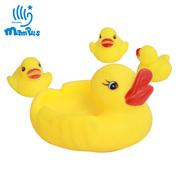 Đồ chơi tắm cho trẻ em, chơi, lưới vịt mẹ, con, kích thước vịt, bể bơi trẻ em, vịt