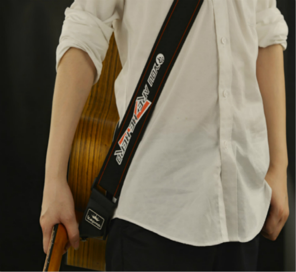 新款卡马吉他背带 加厚真牛皮头黑色卡马高级原装吉他背带单肩