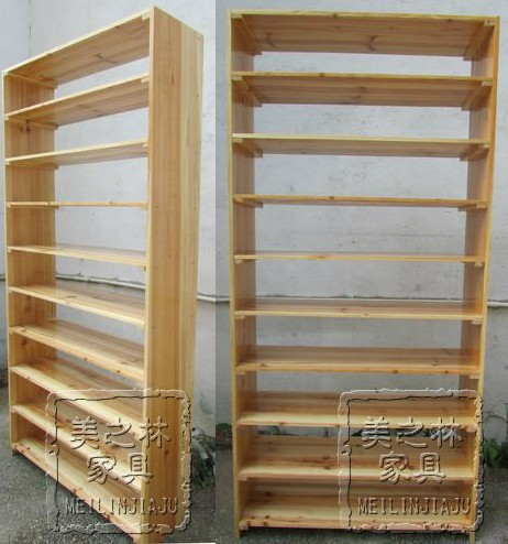 110-storey solid wood shoe rack cabinet to collect dust-proof high multi-storey big shoe rack simple slipper shop display rack 002
