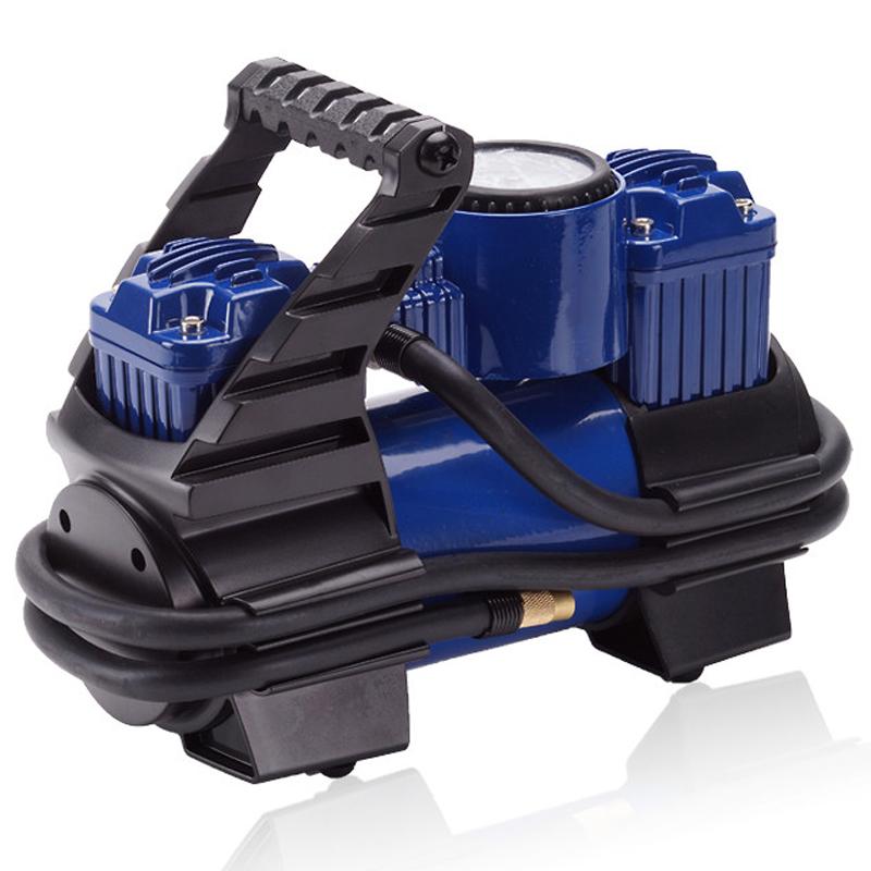 嘉西德0377车用双缸打气泵 车载充气泵 大功率200W打气泵达10个压