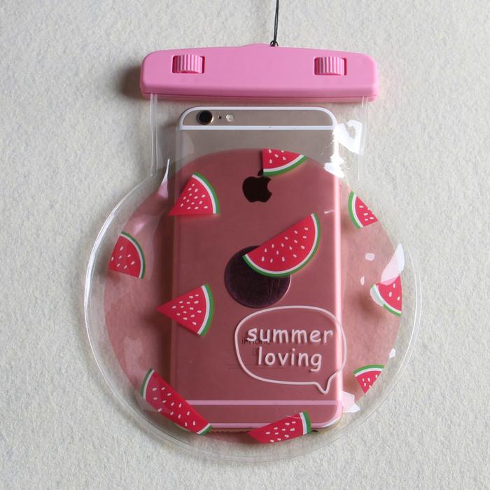 Популярный новая коллекция Плавание Рафтинг Seaside Spa Seal Cute Fruit Phone водонепроницаемый Сумка 6 дюймов плюс