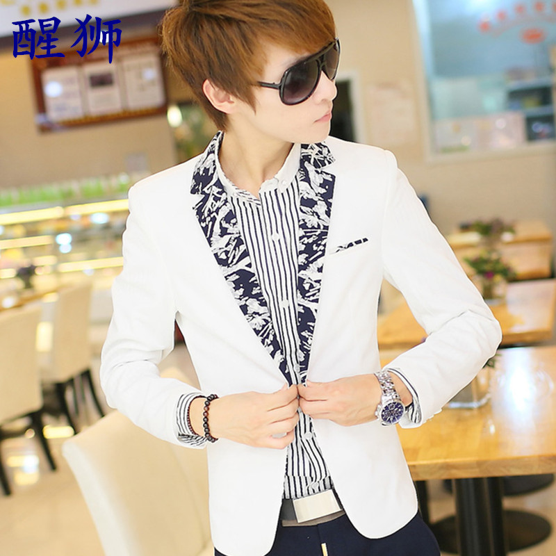 夏季七分袖小西装男薄款修身韩版男士中袖西服套装休闲短袖外套