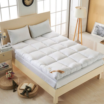Down mattress thickened 10cm student tatami mattress hotel folding soft feather velvet bed cushion 1.8