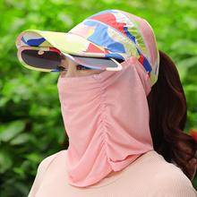 护颈遮脸可折叠防紫外线太阳帽