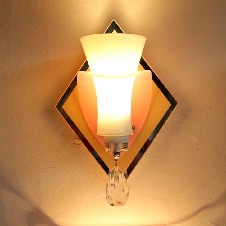 景联灯饰简约现代LED玻璃钢摇滚吊灯 意大利树脂新版菱形空中花园