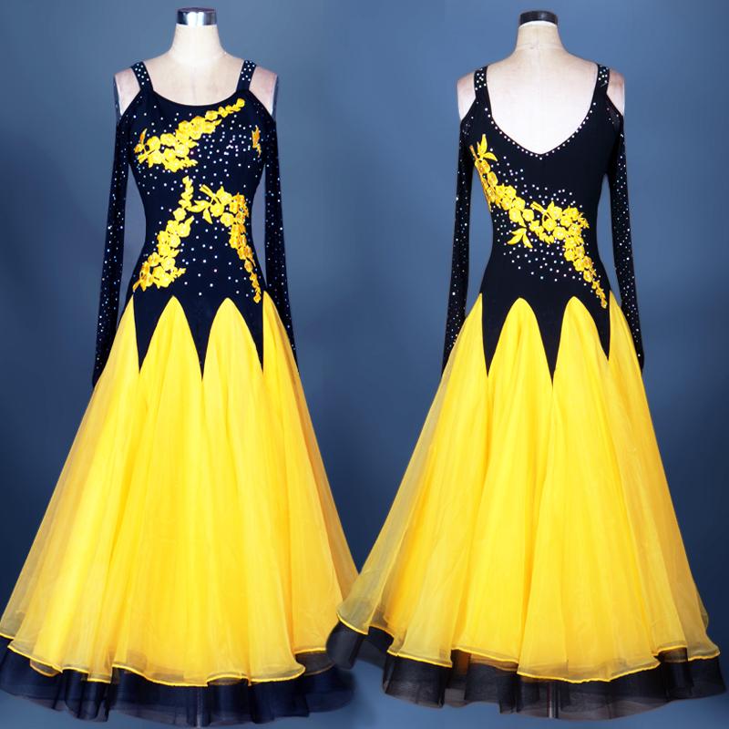 Ballroom Dance Dresses Advanced Skirt  Modern Dress, Friendship Dance, Big Dress, National Standard Dance Competition Costume
