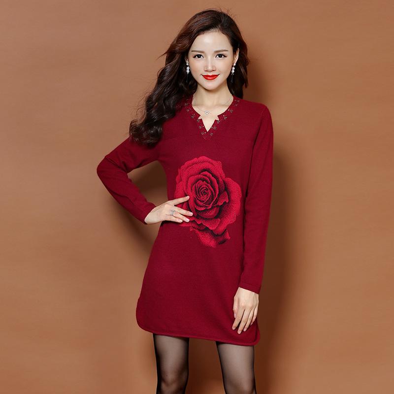 秋装女装连衣裙子女大码不显肉遮盖肚子小肚腩秋季腰粗显瘦好身材