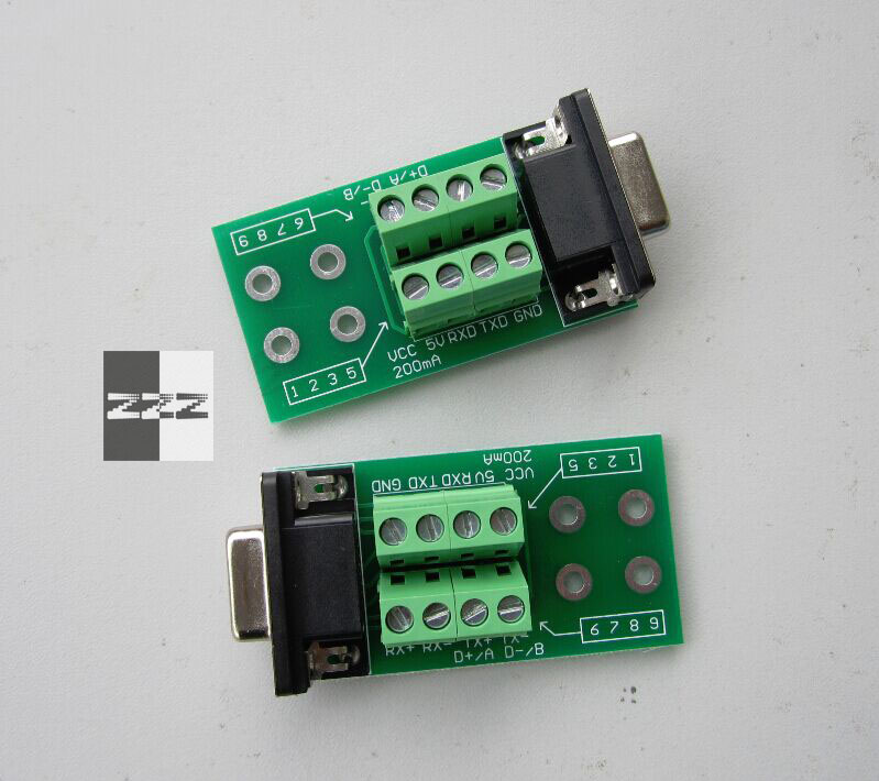 zzzsi DB9 Adapter Cable Terminal serial port to RS232 RS485 RS422