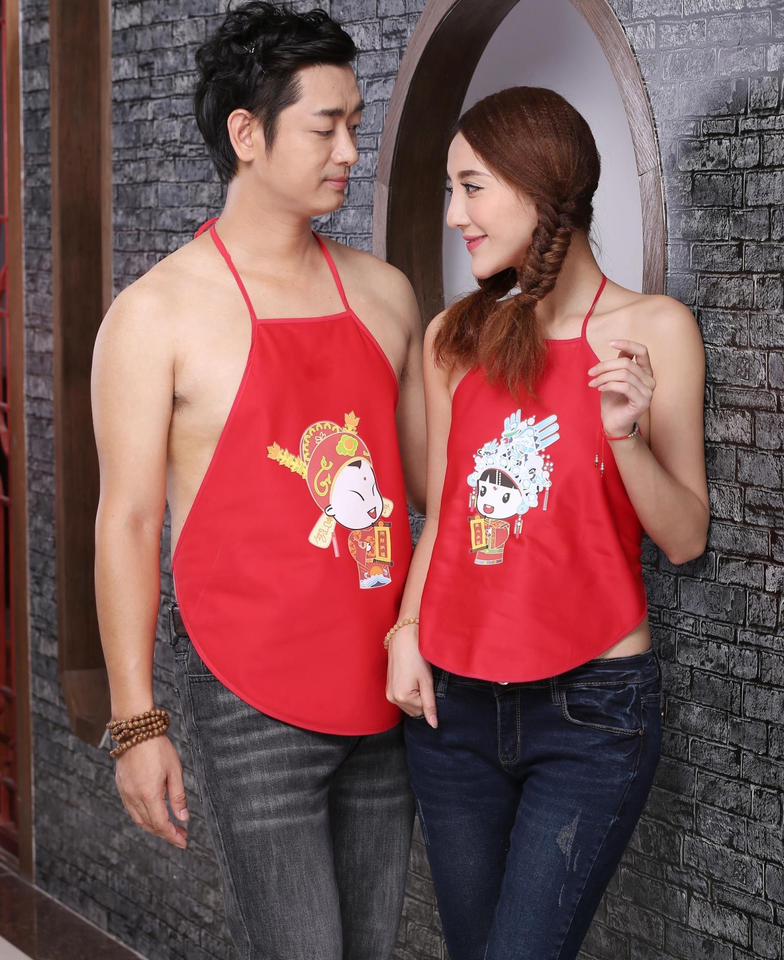 Vợ chồng in ấn Yijia thờ phụ nữ người lớn bông nam và nữ sinh viên gợi cảm dễ thương bụng * mô hình lễ hội - Bellyband