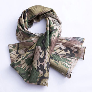 Outdoor special forces tactical scarf genuine men and women army camouflage square scarf jungle camouflage windproof sand quick-drying mesh towel