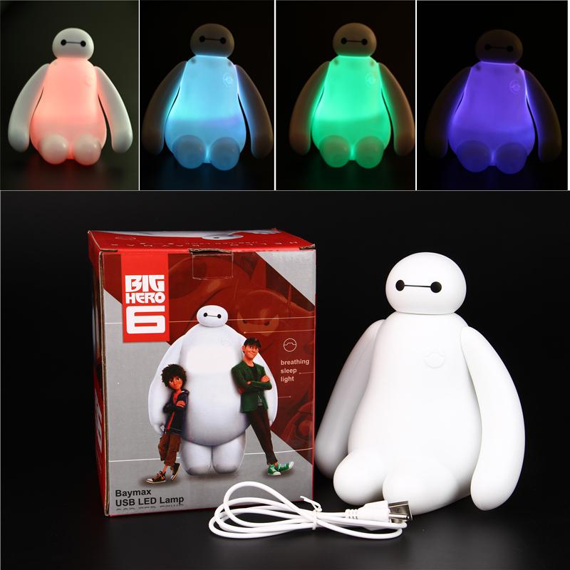 创意卡通大白LED节能光控感应护眼 插座电喂奶卧室床头小夜灯台灯