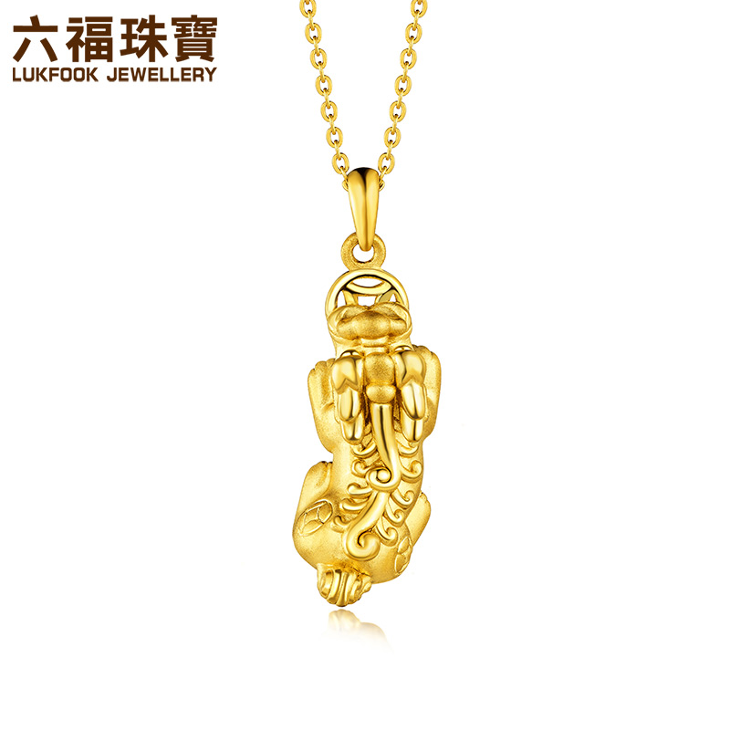Usd 48424 six blessing jewelry brave gold pendant three six blessing jewelry brave gold pendant three dimensional hard gold gold pendant auspicious gift price aloadofball Gallery