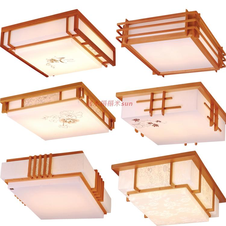 Promotion And Room Lamp Solid Wood Camphor Pine Ceiling Tatami Anese Style