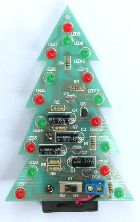 christmas tree led flashing lights water lights electronic technology small diy making small invention puzzle kit