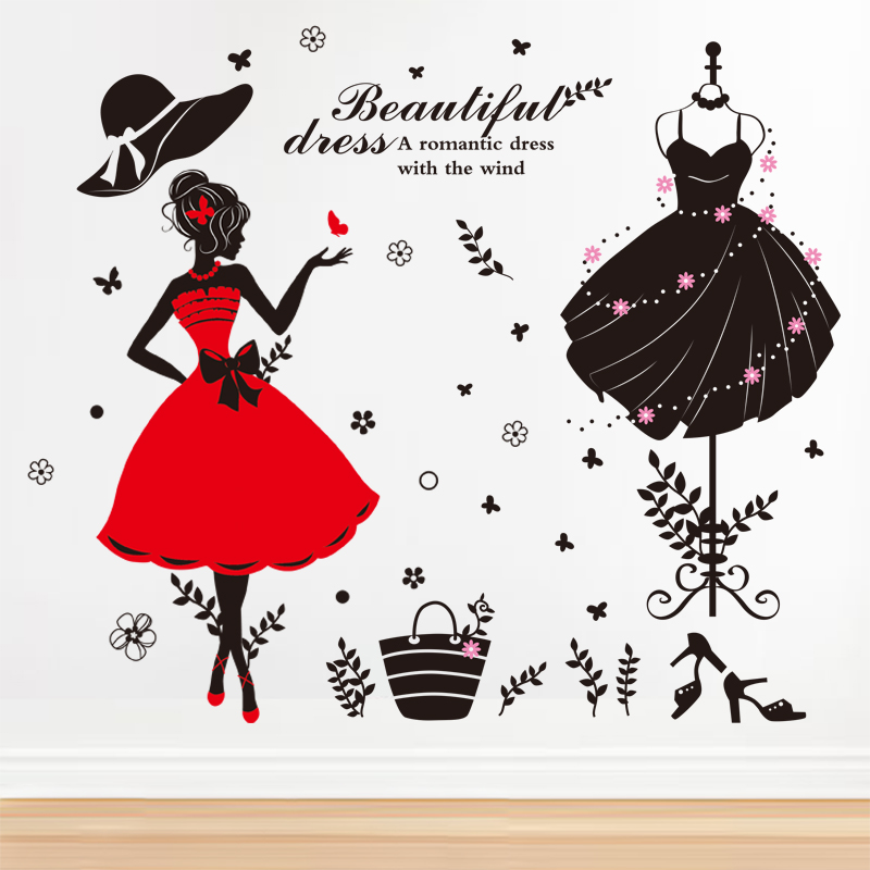 usd 14.03] wall stickers stickers women's wardrobe clothing shop
