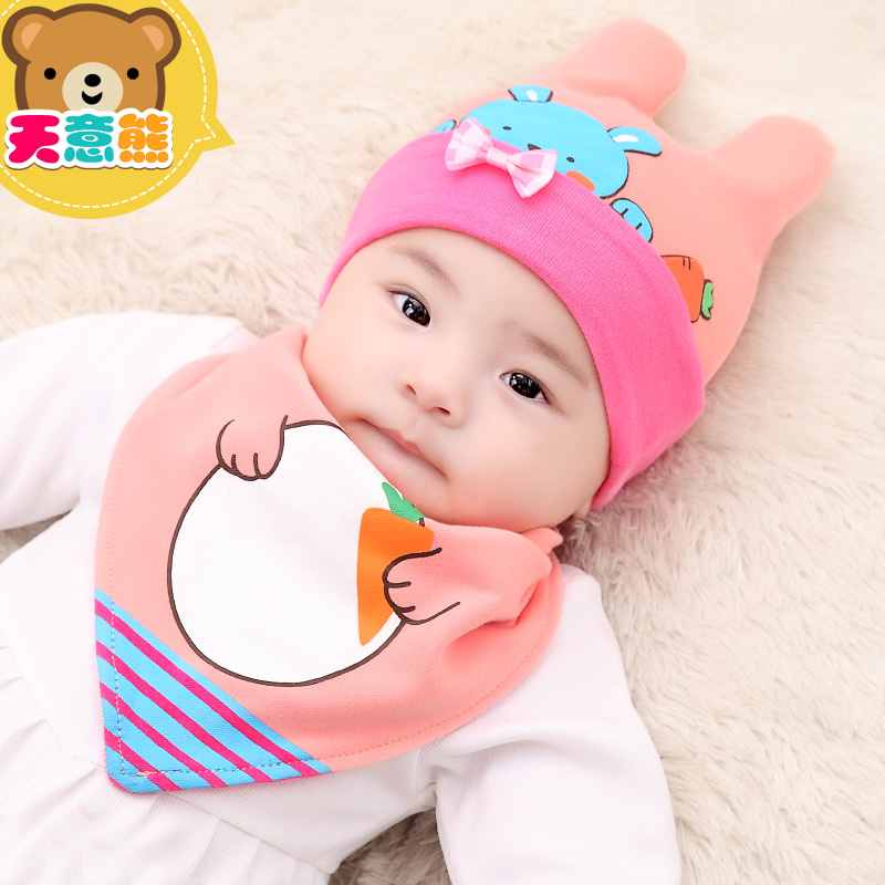 c53a1cceb USD 13.51  Cotton 3-6-12 months baby hat autumn and winter girls 0-1 ...