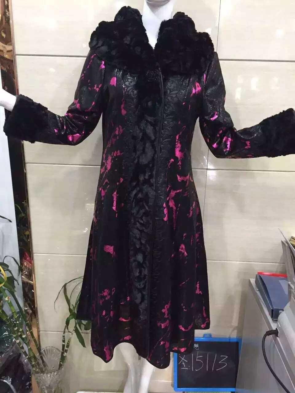 泽泽圣雪儿15116正品秋季新款加肥加大码女装中长款羊毛风衣外套