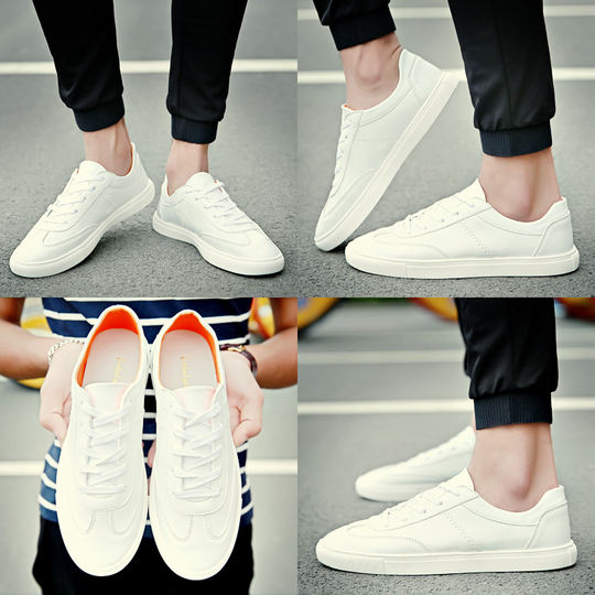 2019 new spring men's shoes tide shoes Korean version of the trend of shoes wild white shoes men's casual shoes white shoes summer
