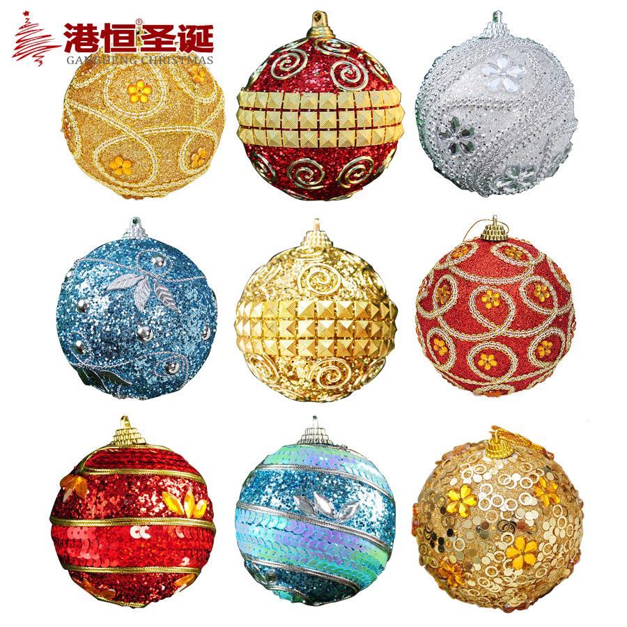 Рождественские украшения Гонконг Хэн Рождественские украшения 8 см блестки Рождественские шары Рождественская елка платье-устройство кулон 25г