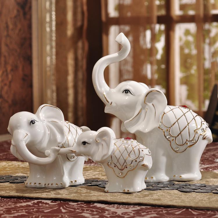 可爱家居欧式装饰品客厅摆件摆设创意工艺品家饰 树脂一家三口猪