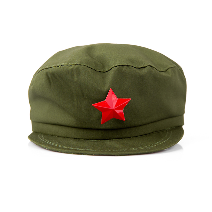 red guard hat red army cap green army cap sparkling red star cap