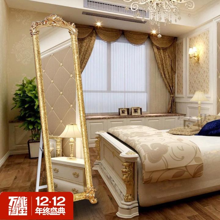 简约现代长方形磨斜边墙壁无框镜子卧室穿衣镜全身镜试衣镜长方形