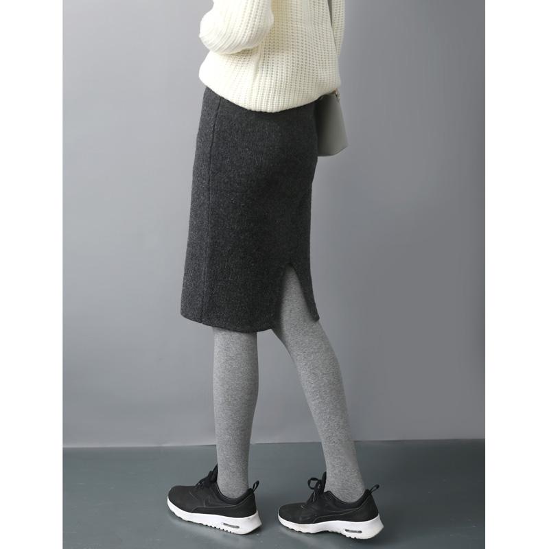 2015秋冬装毛线裙子中长款包裙女半裙针织包臀裙半身裙一步裙冬裙